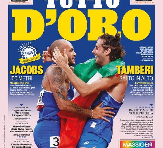 Prima Pagina Gazzetta dello Sport 2 Agosto