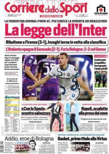 Prima Pagina Corriere dello Sport 22 Settembre