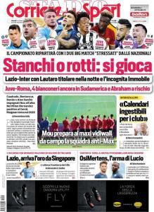 Prima Pagina Corriere dello Sport 14 Ottobre