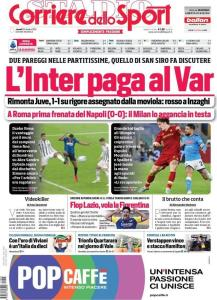 Prima Pagina Corriere dello Sport 25 Ottobre