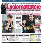 """PRIMA PAGINA – Corriere dello Sport ed. Campania: """"Lucio mattatore"""""""
