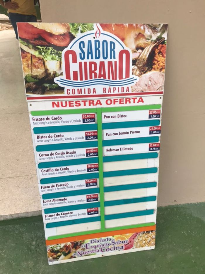 menu' varadero