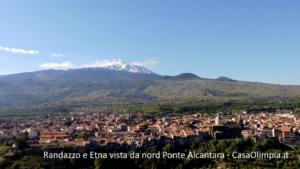 Randazzo e Etna vista da nord Ponte Alcantara