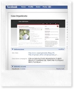 Casa Organizzata su Facebook
