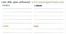 La lista della spesa settimanale [da scaricare e stampare]