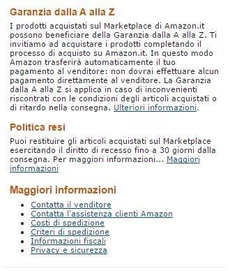 Amazon . garanzia dalla A alla Z
