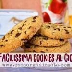 Ricetta facile biscotti con gocce di cioccolato