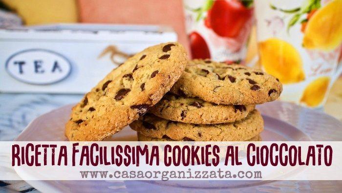 ricetta facile biscotti al cioccolato