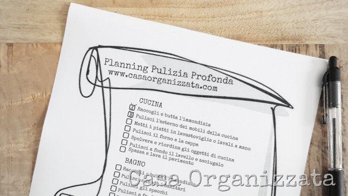 Come fare la pulizia completa e profonda di casa suggerimenti e planning da scaricare