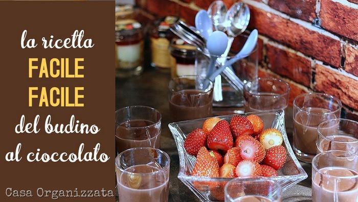 Ricetta facile del budino al cioccolato, per avere sempre dolcetti e merende pronti