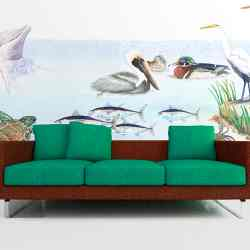 Casart coverings Gulf Coast Mural Room View_10008x711