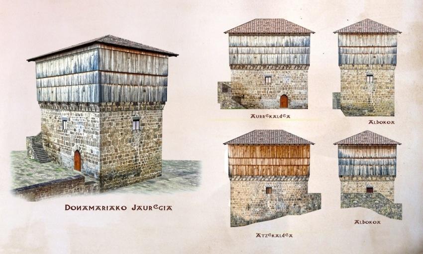 Una de las excursiones indispensables desde Casa Rural Utxunea es Jauregia de Donamaria. Uno de los grandes atractivos para el visitante es recorrer el cadalso, lugar donde se secaba el trigo y al que se accede por una escalera interior de madera. Lo primero que llama la atención es la luz tan especial que se genera en su interior y lo segundo es su acústica. Los ruidos de fuera, como el sonido de los pájaros, el rumor del río o la lluvia, se perciben en esta parte de la torre de una manera mágica, lo que ha llevado a algunos a compararla con una caja musical.