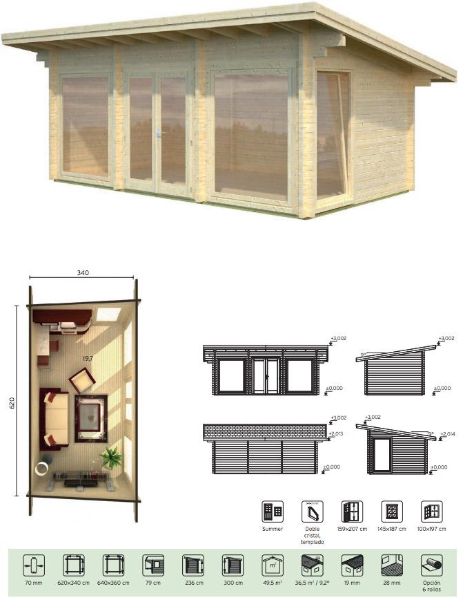casas de madera de abeto heidi