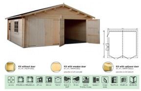 garaje de madera garage doble de Casas Carbonell