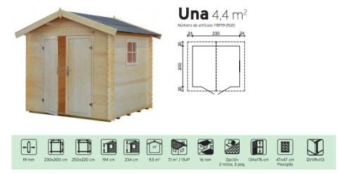 caseta prefabricada para jardin una