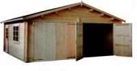 garajes de madera doble