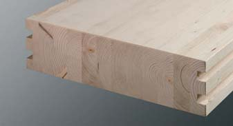 casas madera maciza o laminada, tablón laminado de Casas Carbonell