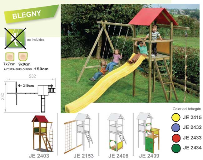 parques infantiles de jardin torre blegny