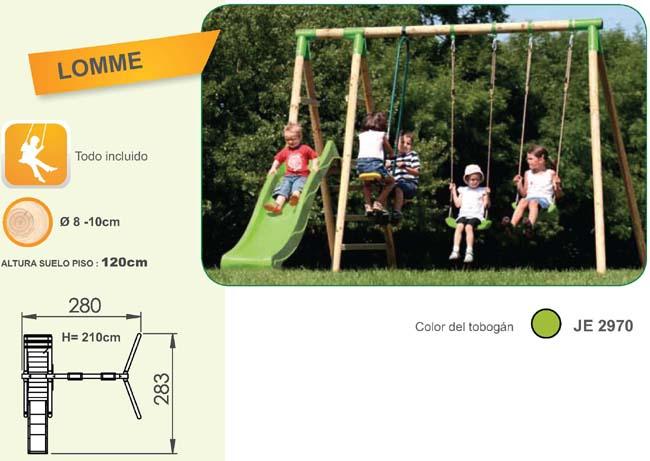columpio de madera para niños lomme