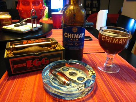 Natural Egg Maduro and Chimay Blue
