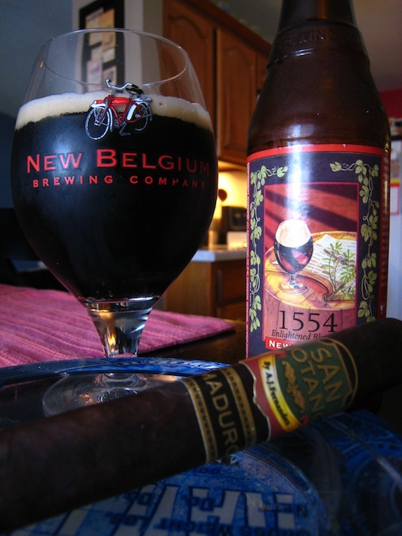 San Lotano Maduro with some New Belgium 1554