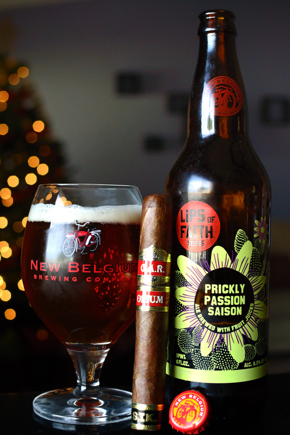 G.A.R. Opium with some New Belgium Lips of Faith Prickly Passion Saison