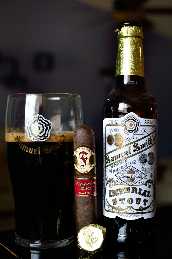 Casa Fernandez Agarnosa Leaf Maduro with Samuel Smith's Imperial Stout
