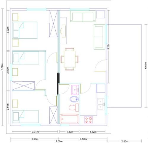 Casa modular Málaga 59 metros