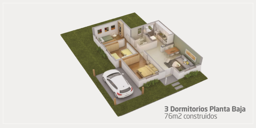 3 Dormitorios Planta Baja