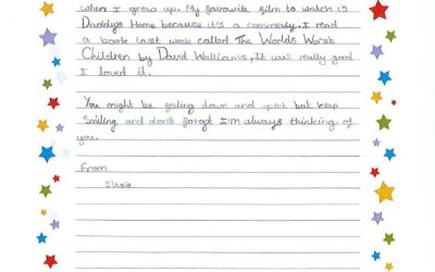 Children at Coleshill Heath School have written letters for people who are isolated in the community