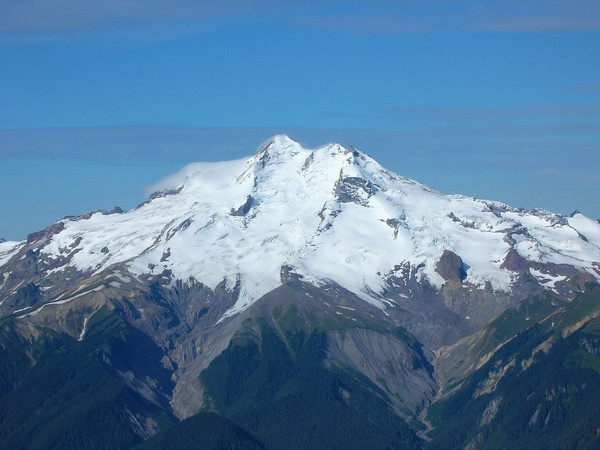 Glacier Peak from the summit of Fortress Mountain