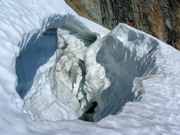 Crevasse on Sloan Glacier