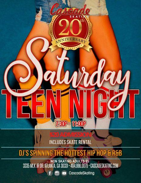 Saturday Teen Night Skate