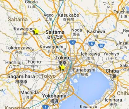 Kawagoe Map