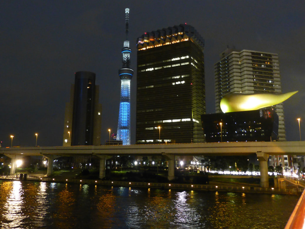 Skytree and Asahi Flame