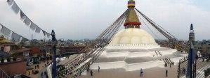 Boudhanath Stupa in Kathmandu when we visited in February
