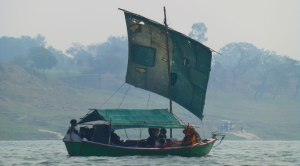 Sailboat on the Ganges River