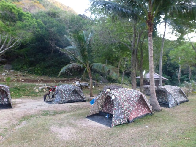 Our home away from home for a couple nights. Ko Wua Talap on Ang Thong is packed with tourists during the day, but at night, there were just a handful of campers.