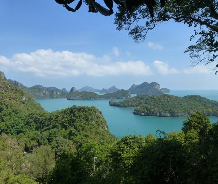 A view of Mu Ko Ang Thong National Marine Park in the Gulf of Thailand