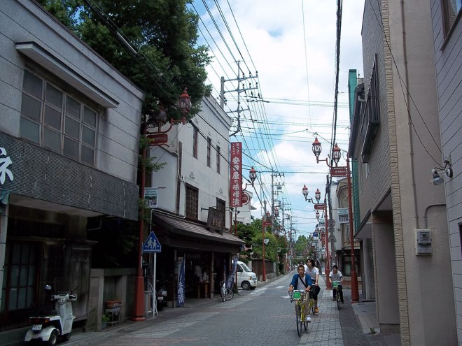 The street leading to Chichibu shrine is full of quaint shops, feeling like a throwback to another time