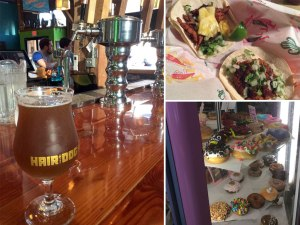 A tour of Portland food: Hair of the Dog's Blue Dot Double IPA; vegetarian tacos at Robo Taco; no Portland trip is complete without a stop at Voodoo Doughnuts, coming soon to Tokyo!