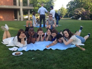 Picnicking during the farewell BBQ.