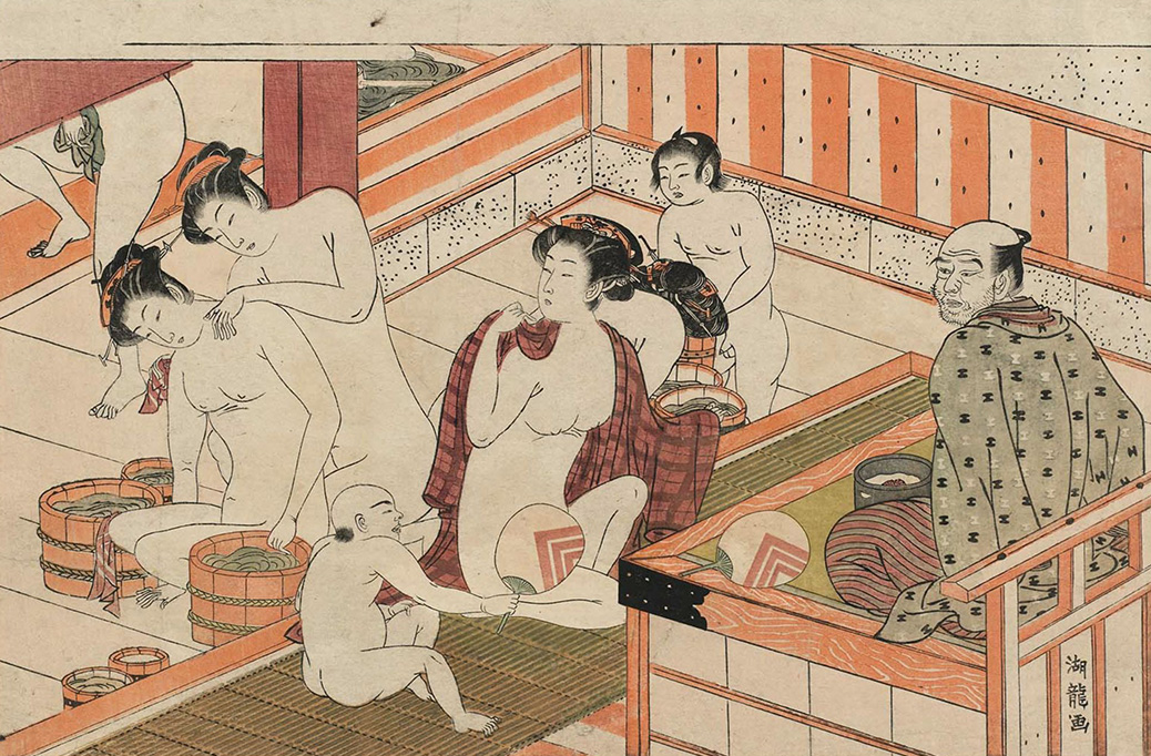A surprise in the bathhouse