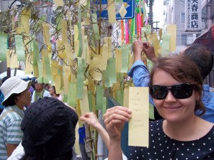 "Our Tanabata wish: ""If Lost, Return to Japan"""