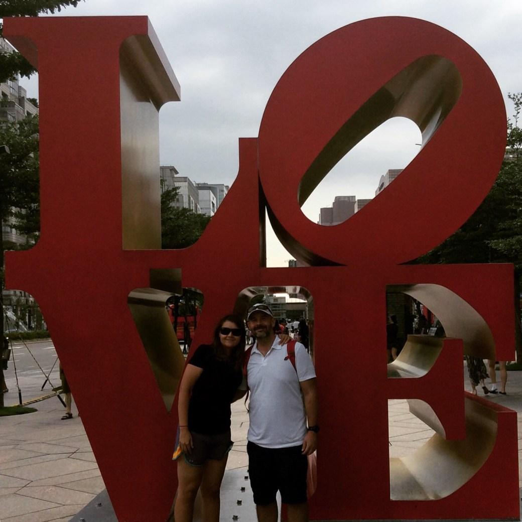We stumbled on Taipei's version of the internationally-famous Love sculpture on the south side of Taipei 101.