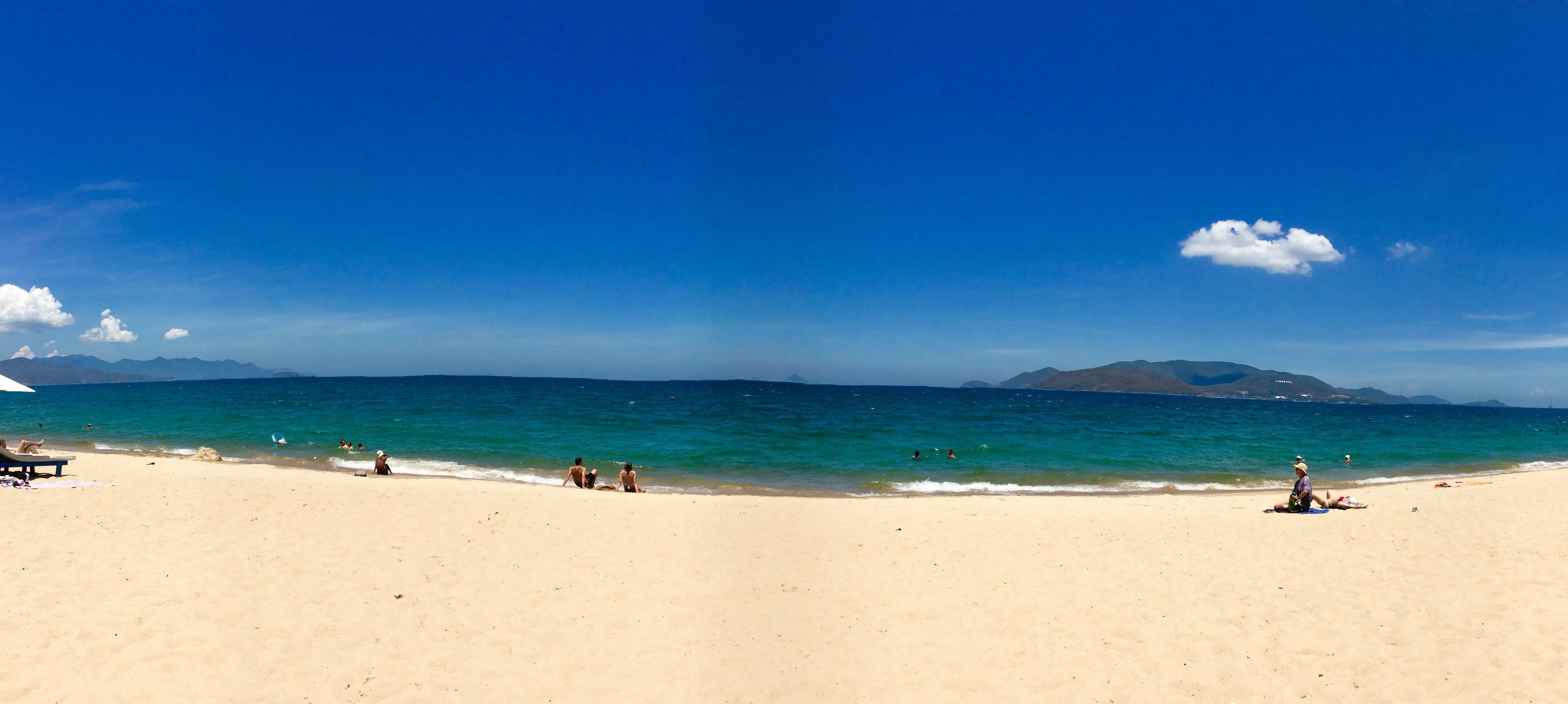 A panoramic view of Nha Trang Beach