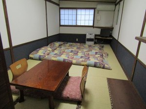 Our Japanese-style room at the Turtle Inn