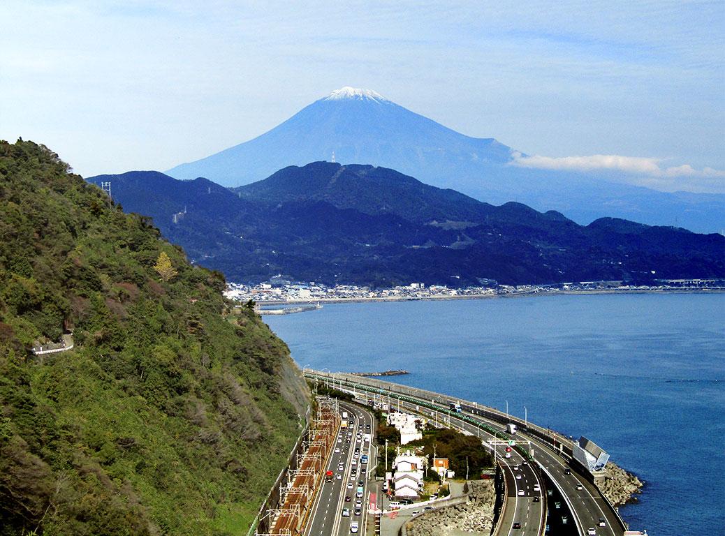 Mt. Fuji as seen from Satta Pass