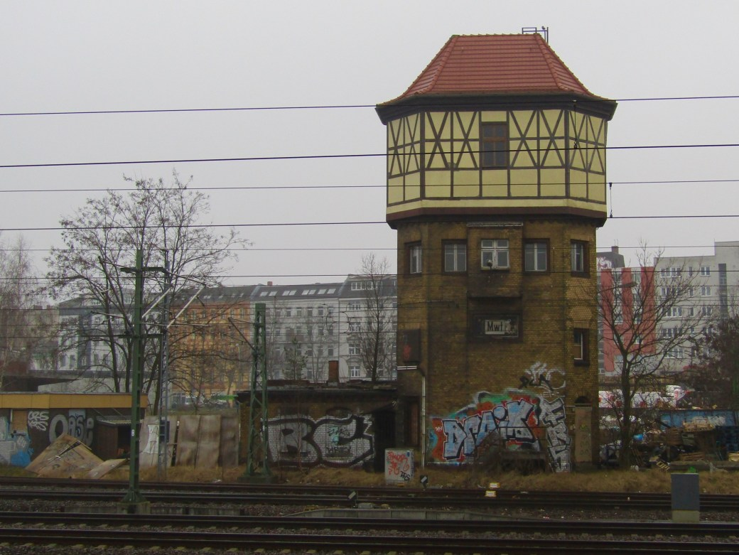 A building across from the Beisselstr. train station in Berlin.