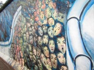 Mural at East Side Gallery in Berlin.